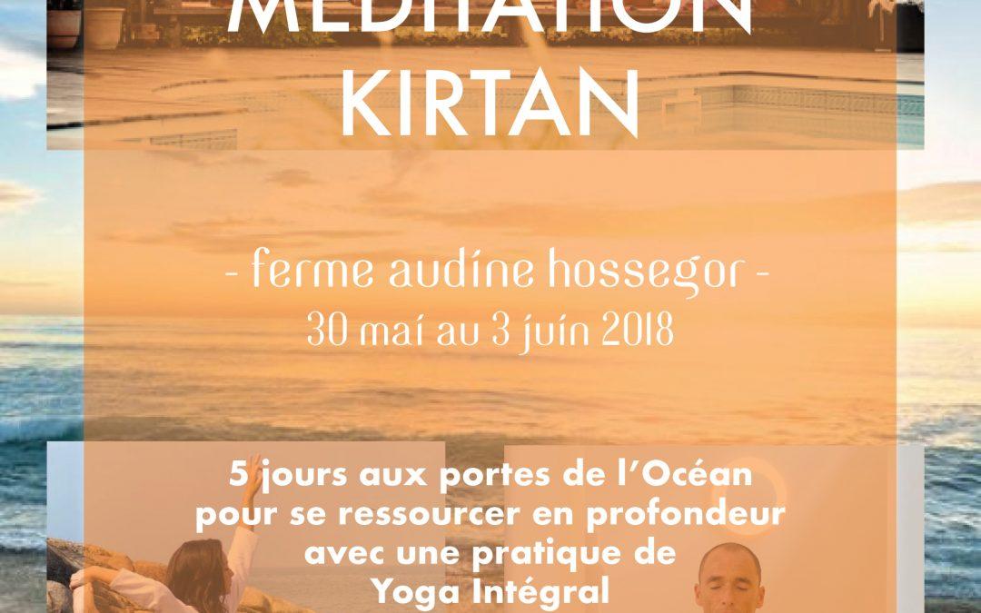 Retraite de Yoga, Méditation, Kirtan – Hossegor – 30 mai 2018