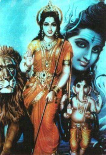 Shiva, Parvati & Ganesha